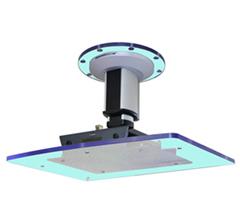 プロジェクター用天吊り金具 SPCM-CP100 (205mm)下に透明版サイズ別途注文可能