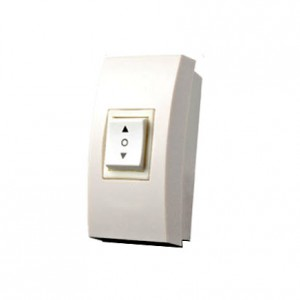 電動スクリーン用上、下の露出型スイッチ。壁面取付可能型