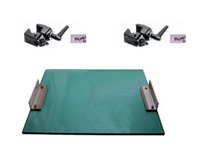 プロジェクター用マウント用正方形の透明板APS-400+クランプ2個(厚さ15mm x横400mm縦600mm)